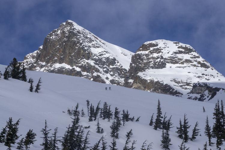 Ski Skier Skiing Skiers Mountaineering Ski Mountaineering Mountaineer Mountaineers Backcountry Backcountry Skiing Ski Touring Climbing Climb Ascend Ascending Mountain Mountains Immense Huge Steep Slope Skintrack Vast Landscape Majestic