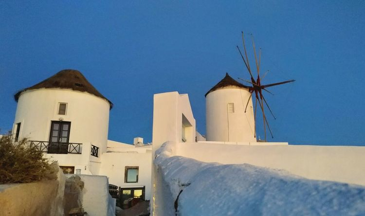 || Nature Theories || Santorini, Greece. TheFoneFanatic Nokia  Nokia808 Vacations Mobilephotography PhonePhotography Scenics Blue Clear Sky Sky Architecture Traditional Windmill Historic