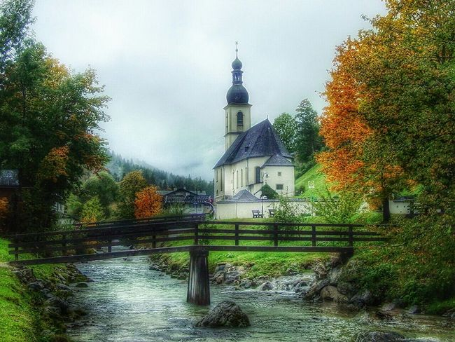 Nature Forest Church Hello World Architecture Nice Atmosphere Traveling Ramsaubeiberchtesgaden Sky And Clouds