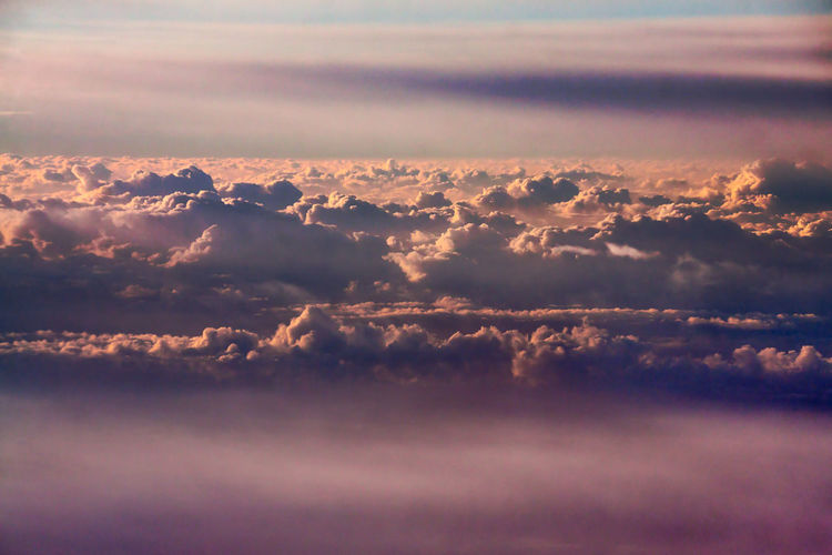 Cloud - Sky Sky Beauty In Nature Tranquility Scenics - Nature Tranquil Scene Nature No People Cloudscape Outdoors Idyllic Environment Day Backgrounds Full Frame Low Angle View Aerial View Non-urban Scene Softness Meteorology