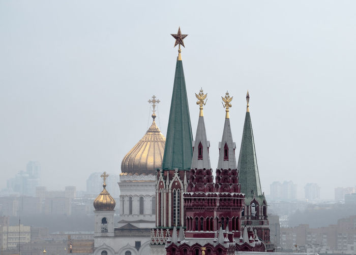 St Basils Cathedral During Foggy Weather