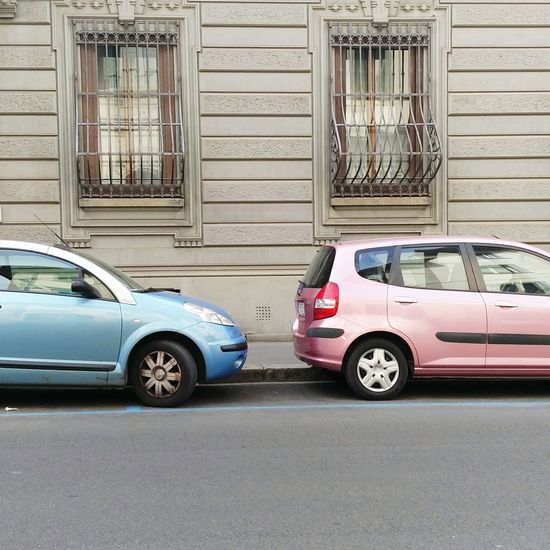 Pink And Blue Male And Female Car Porn