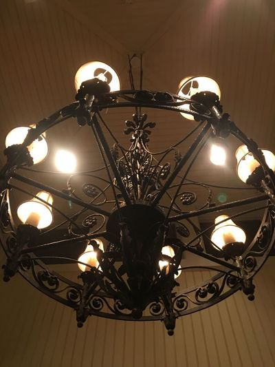 Chandelier Lighting Equipment Illuminated Low Angle View Electricity  Electric Light Light Bulb Glowing Ceiling Electric Lamp Hanging Night No People Indoors  Technology Lantern Close-up Antique Chandelier