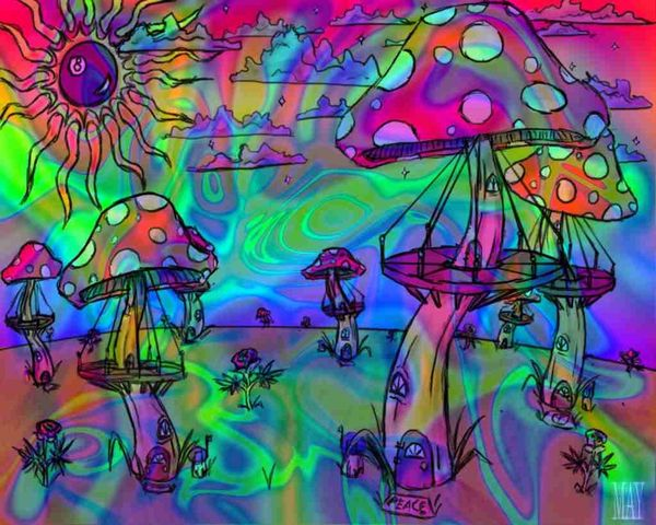 ??? Shrooms Rainbow Trippy High Life
