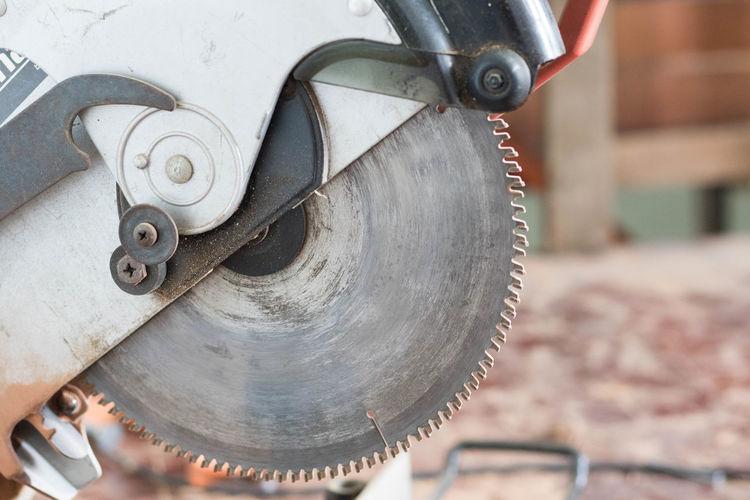 Close-up of circular saw