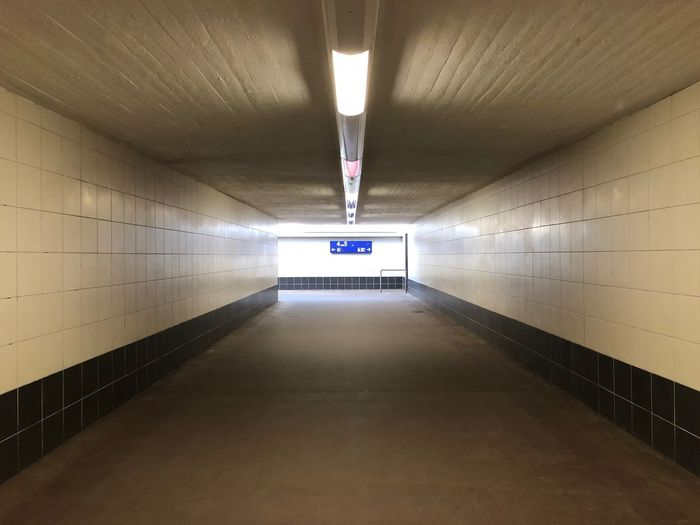 …heading to platform 5 and hopping on a train to Bremen. Train Station Underpass Illuminated Architecture Lighting Equipment Indoors  Ceiling Wall - Building Feature No People Tunnel