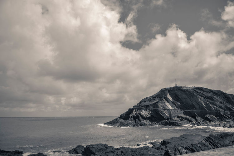 Black & White Coastline Rock Beauty In Nature Black And White Black And White Friday Cloud - Sky Day Dramatic Landscape Horizon Over Water Landscape Nature No People Outdoors Scenery Scenics Sea Sky Texture Tranquil Scene Tranquility Water