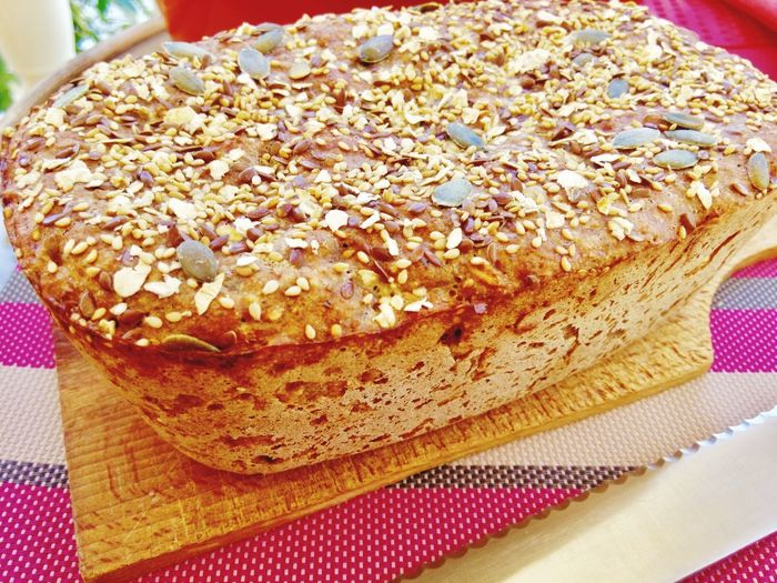 Körnerbrot Selbstgebacken Homemade Baked Bread Backwaren Foodie Yummy Bread, Breakfast, Cake, Close Up, Decoration, Eat, Eating, Family Cake, Food, Home, Home Made, Orange, Pick, Red Dish, Spoon Cake, Steal, Sweet, Sweets, Temptation, Torta Paesana, Window Esposition, Window Ligth Chleb Brot Food And Drink Food Indulgence Sweet Food Freshness Close-up Dessert Ready-to-eat Indoors  Still Life Bread Table