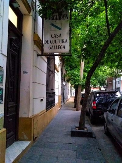 Street Buenos Aires Tree Communication Road Sign Text Architecture Built Structure Building Exterior