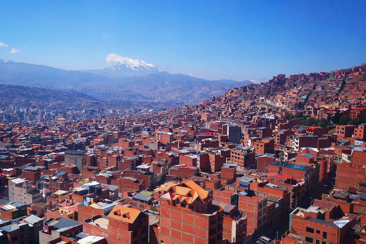 La Paz City Bolivia High Angle View La Paz Exploring No People Experience Beautiful Cityscape City Mountain Aerial View Sky Residential District Urban Sprawl Settlement