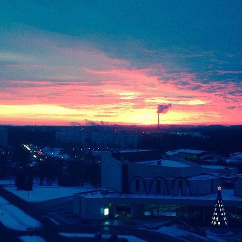 Утро за моим окном красота утро зима этожизньдетка акварель помню