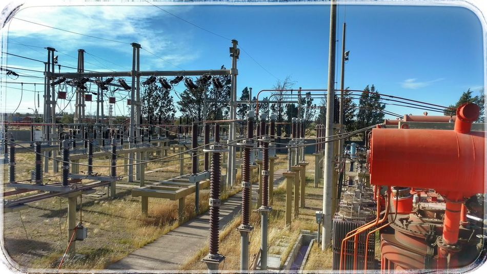 Day Outdoors No People Sky Built Structure Architecture Power High Voltage Trelew EyeEmArgentina The Week On EyeEm Work Power System Energy