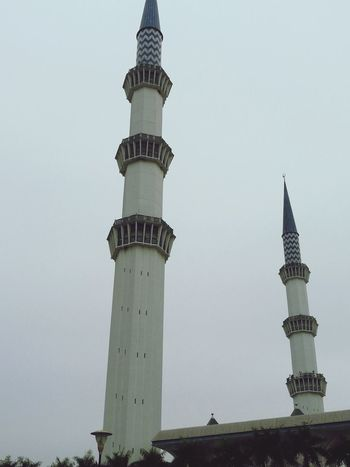 Sky Tower Outdoors Landscape Architecture Malaysia Mosque Architecture Shah Alam