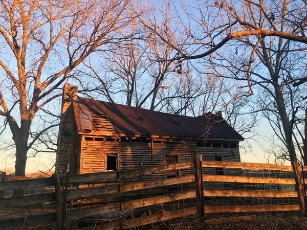 Old Building  Fence Winter Golden Hour Farmhouse Abandoned No People Wood - Material Outdoors Day Nature Sky