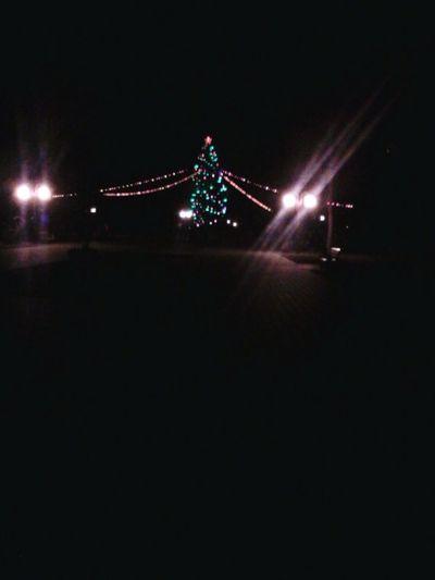 Happy New Year Christmas Tree Town Lida