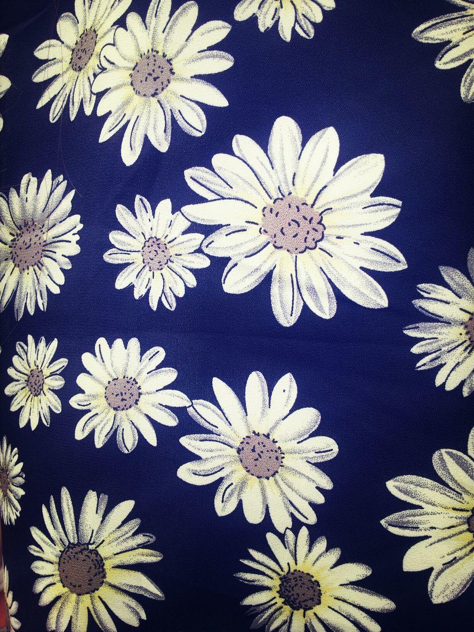 Full Frame Shot Of Flowers Printed On Textile