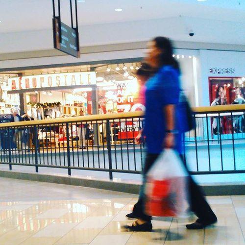 Shoppers walk