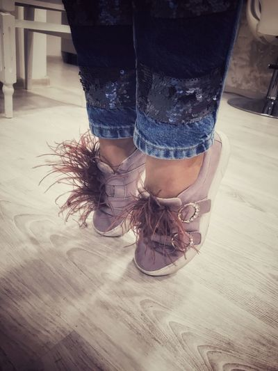 Feather  Fluffyshoes Tiptoe Dayatwork Barre Low Section Human Leg Real People Shoe One Person Human Body Part Modern Workplace Culture Human Foot Lifestyles Women Standing