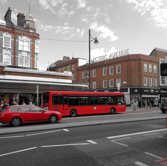 London Lifestyle Architecture Cloud - Sky Red Transportation Land Vehicle Outdoors Day Building Exterior City Electric Avenue Brixton Village