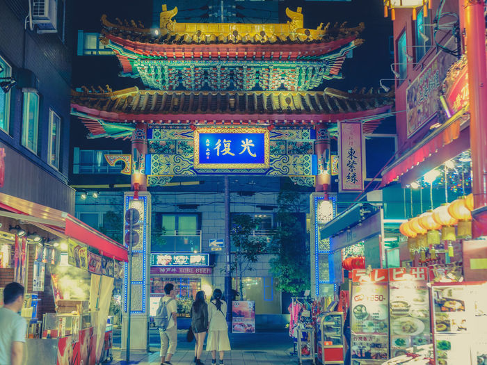 Chinatown Japan Japan Photography Kobe-shi,Japan Nightphotography Architecture Building Exterior Built Structure City Day Kobe Night Outdoors Real People Streetphotography