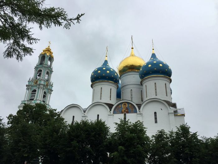 Low Angle View Of Trees By St Sergius Monastery
