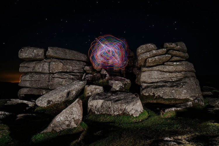 Night Photography Sony A7RII Balance Beauty In Nature Camshy Dartmoor National Park Land Light Spinning Low Angle View Nature Night No People Outdoors Pattern Rock Rock - Object Rock Formation Scenics - Nature Sky Solid Sony Alpha Sony Phography Stone Stone - Object Textured