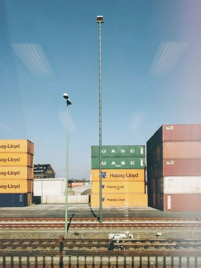 Window view... Lightleak Industrial Landscapes Industrialbeauty Colorful Cityscape Sky Berlin Copy Space Container Industrial Industry Film Analog
