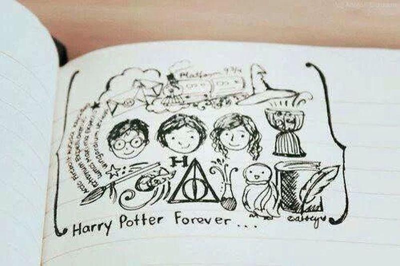 Harry Potter B&W✨ My Drawing