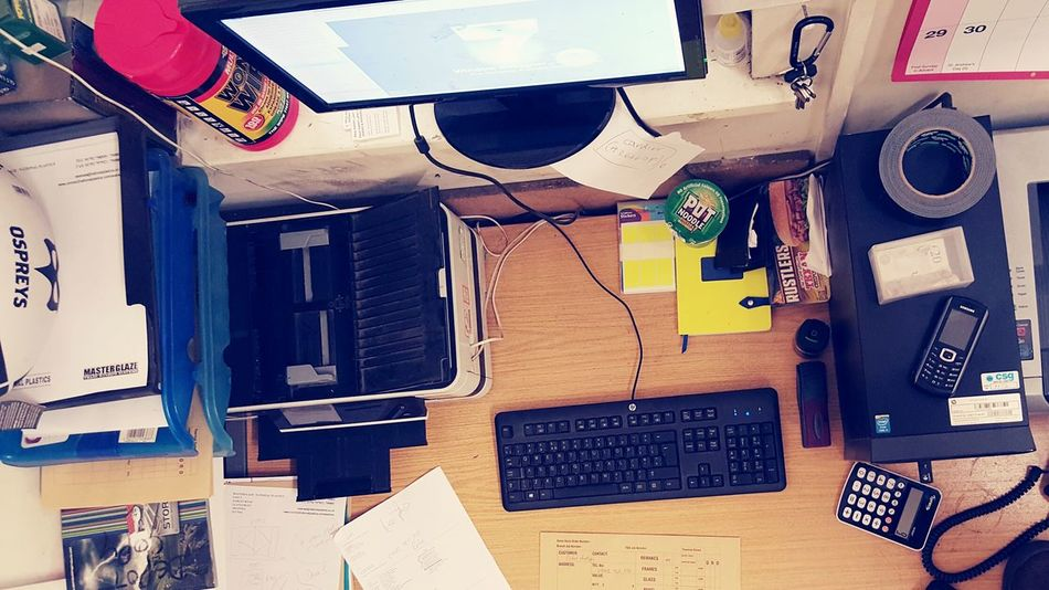 Desks From Above Working Hard My Working Desk Hardwork
