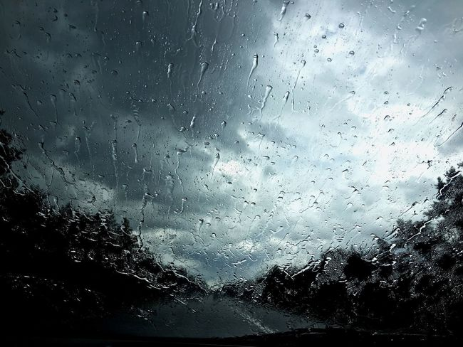 Summer rain!💧 The Netherlands Nature Summer Rain Window Car Weather Water No People Highway Overijssel A28 Zwolle