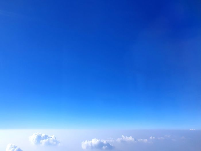 Clear Sky Blue Backgrounds Illuminated Copy Space Sky