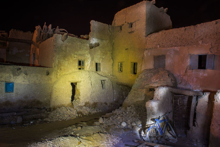 Ancient ruins in Siwah Oasis, Egypt Light Painting Night Shot Siwah Architecture Building Building Exterior Built Structure History Night No People Oasis Old Old Ruin Outdoors Residential District Ruined Siwah Oasis Wall