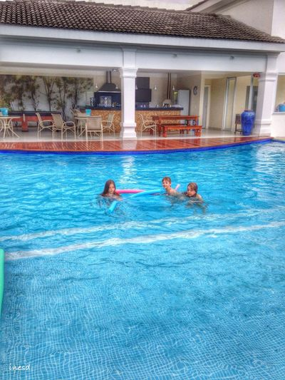Swimming Pool Today My Day EyeEm Best Shots Kids Being Kids Authentic Moments Holiday My Daughter And Cousins