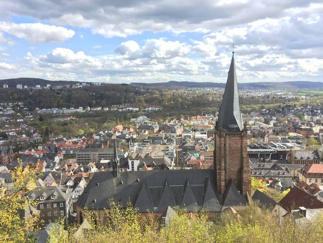 Overlooking parts of Marburg from the castle. Marburg Castle Marburg Green Rolling Hills Nature Germany