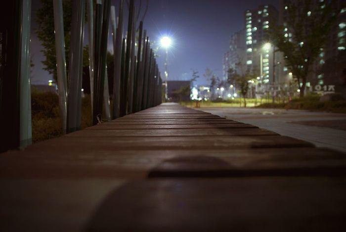 South Korea Daejeon, Korea Nikon D80 Streetphotography Nightphotography Bench
