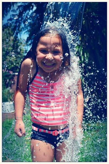 Fun Times Water Drops Water Splash! Water Splash Summer ☀ Summertime Childhood Children Photography Children's Portraits Children's Holiday