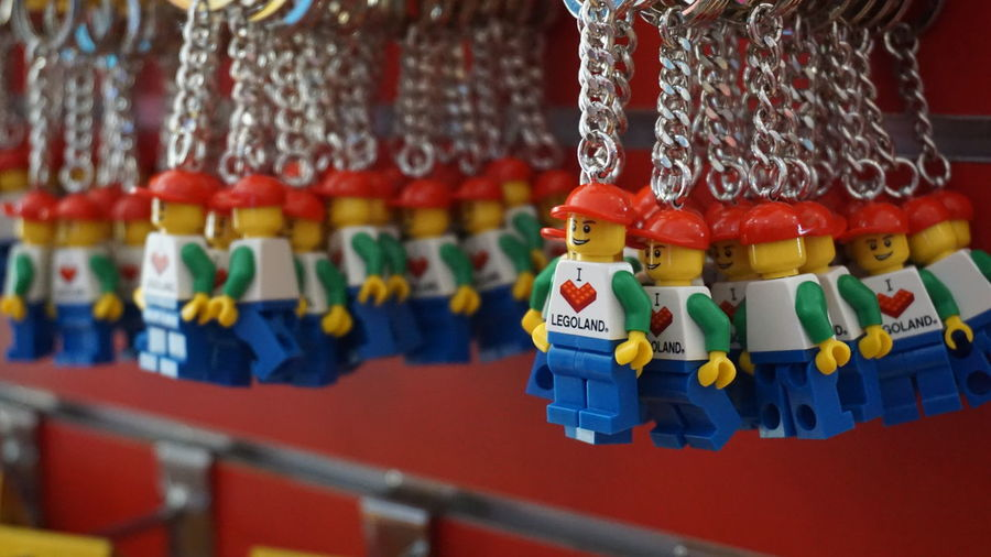 Hanging Close-up Business Multi Colored No People Market Tourist Park Amusement  Amusement  Malaysia Bricks Johor International LandmarkTravel Destinations LEGOLAND IN MALAYSIA Legoland Malaysia Legoland Hobbys Brick Merchandise Collection Collector Tourism Keychain