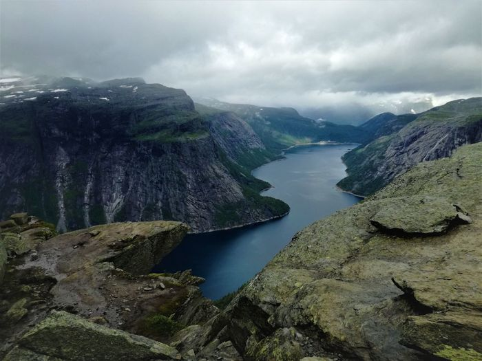 Norway Scandinavia Beauty In Nature Day Fjord Lake Landscape Mountain Nature No People Outdoors Scenics Sky Tranquil Scene Tranquility Water Go Higher