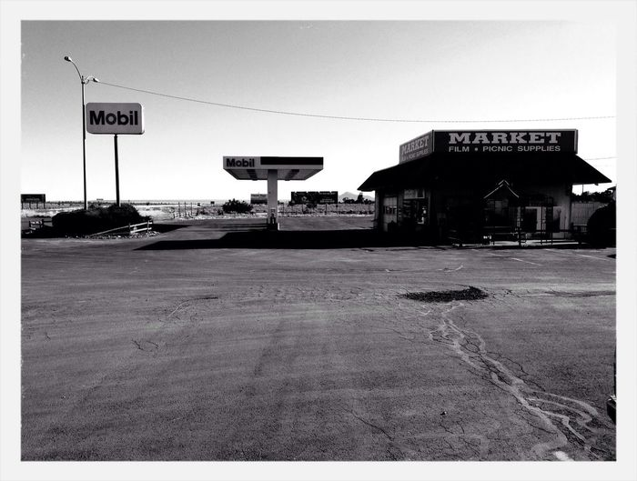 Black And White Gas Station Market