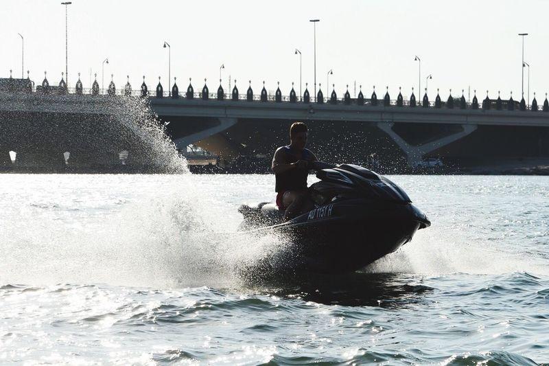 Jet skiing Water Skiing Water Sking Jet Ski Jet Skiing Jet Ski Sunset Abudhabi Abu Dhabi Water Sea Sun Weather