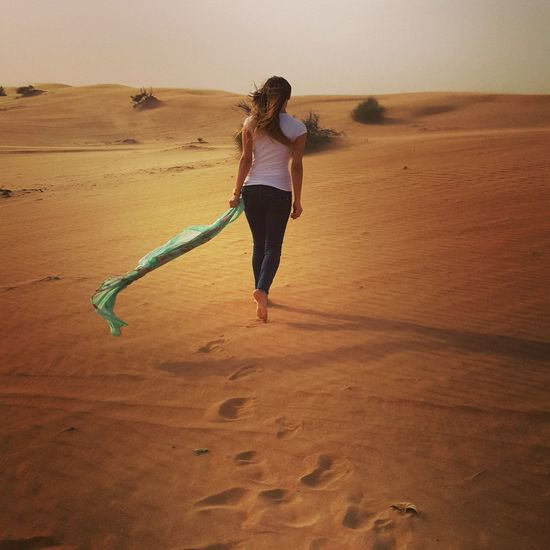 Dubai Desert Desertrose FootPrint
