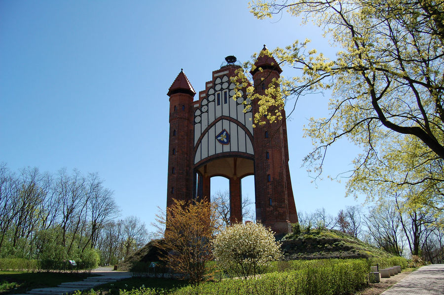 Bismark tower of Rathenow in springtime (Germany). Bismarck Tower Havelland Germany Rathenow Architecture Bismarck Bismarckturm Building Exterior Built Structure Day Growth Havelland Low Angle View No People Outdoors Religion Sky Tree
