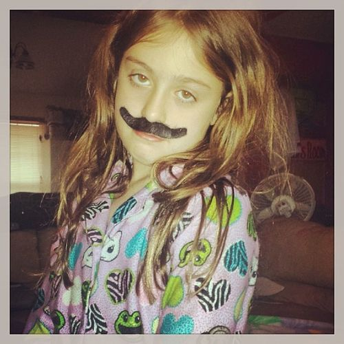 You HAVE to be kidding me. Lilsis  GottaLoveHer Attitude MustacheSwag