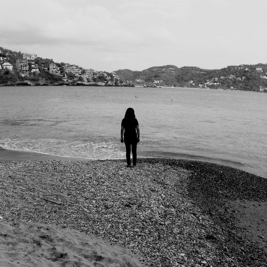 Monochrome Blackandwhite Zihuatanejo Relaxing Beach Traveling Taking Photos