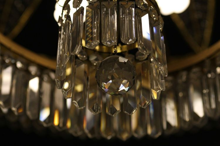 ArtDecoArchitecture Artdecostyle Artdeco Interior Indoors  Close-up Selective Focus Glass - Material Glass No People Hanging Lighting Equipment Chandelier Focus On Foreground Drink Illuminated Food And Drink Drinking Glass Crystal Glassware Crystal Shiny Decoration Low Angle View Wealth
