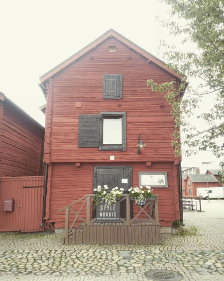 Architecture Building Exterior Built Structure Finland Oulu Red Scandinavia Scandinavian Design Timber Woden Wooden Building