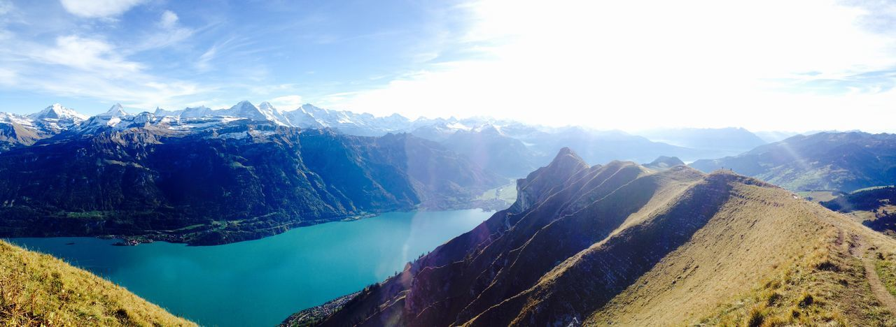 Augstmatthorn Panorama Beauty In Nature Day Lake Landscape Mountain Mountain Range Nature Outdoors Sky Snow Switzerland Top View The Great Outdoors - 2018 EyeEm Awards