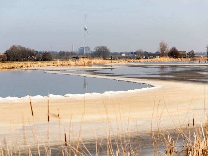 Farm Ice Nature Winter Day Dike Holland Holland Scene Nature No People Outdoors Water Waver