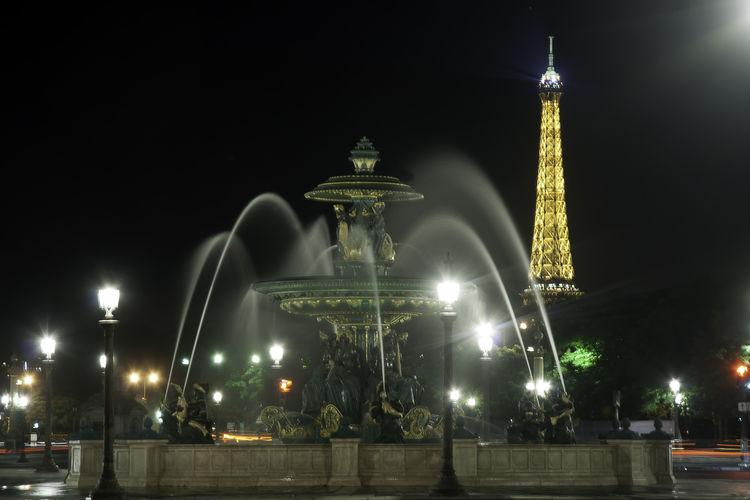 Paris Travel Eiffel Tower Fountain Paris Paris Je T Aime Paris ❤ Paris, France  Architecture City Eiffel Eiffeltower Fountain Show Illuminated Night Outdoors Parisjetaime Street Street Light Travel Destinations