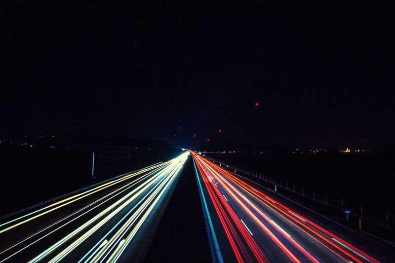 EyeEm Selects Night Light Trail Long Exposure Illuminated Transportation Speed Road Traffic No People